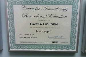 Center for Aromatherapy Research and Education Raindrop 2 Certification