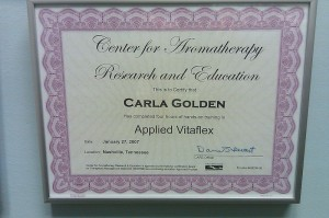 Center for Aromatherapy Research and Education Applied Vitaflex Certification