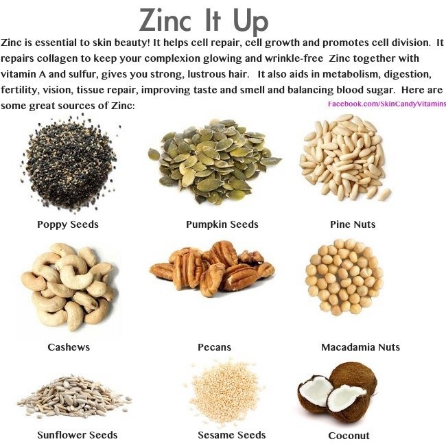 Nutrition only in animal based foods for Cuisine zinc