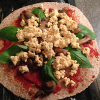 "Thumbnail image for Vegan Pizza with Tofu ""Feta"" and Basil"