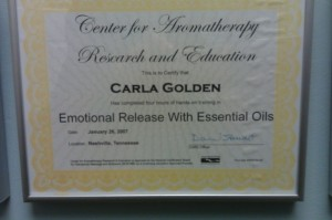 Center for Aromatherapy Research and Education Emotional Release With Essential Oils Certification