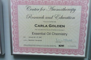 Center for Aromatherapy Research and Education Essential Oil Chemistry Certification