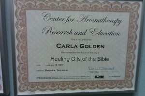 Center for Aromatherapy Research and Education Healing Oils of the Bible Certification