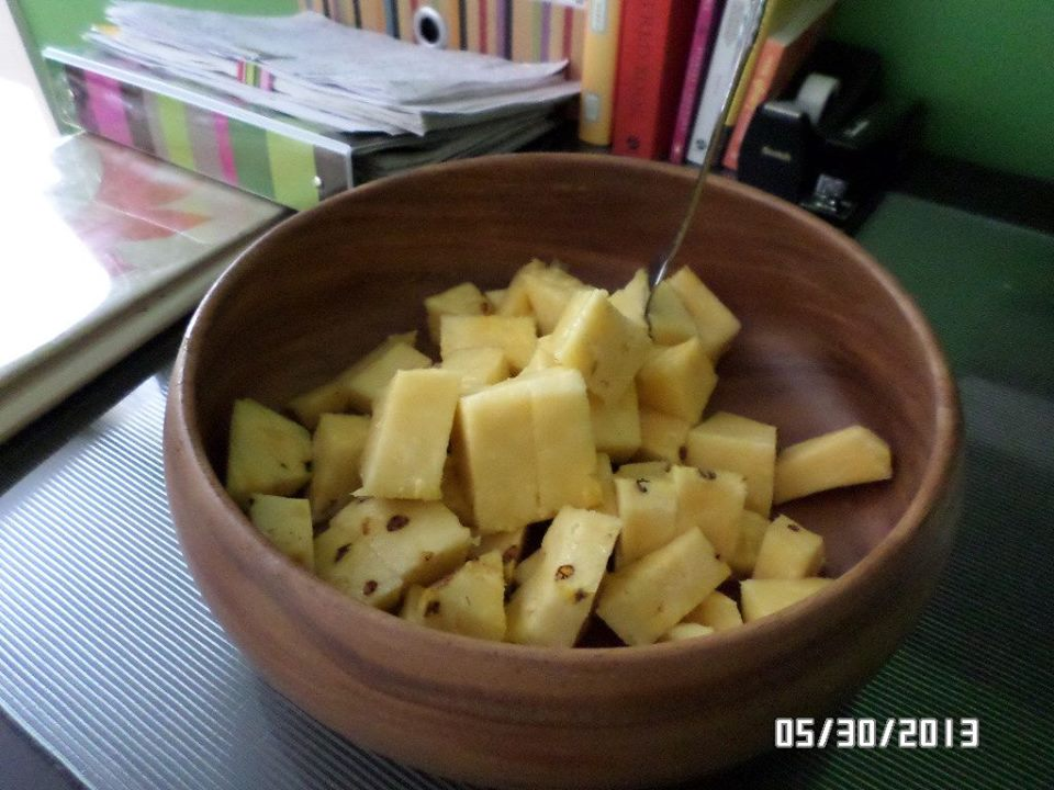 A Bowl of Pineapple