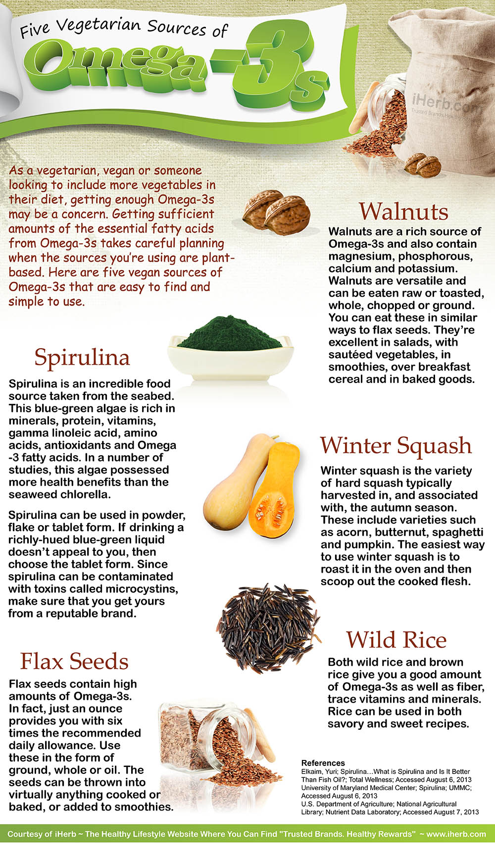 10 Vegetarian Sources of Omega-3 Fatty Acids foto