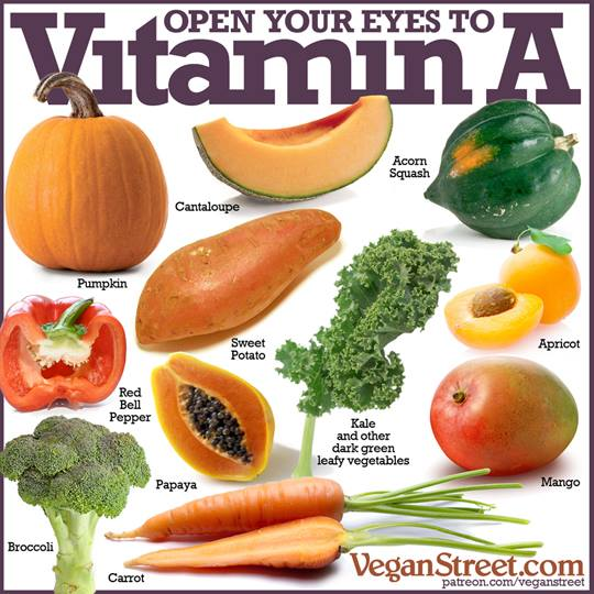 Foods High In Beta Carotene Vitamin C And Vitamin E